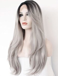K'ryssma Ombre Gray Lace Front Wig