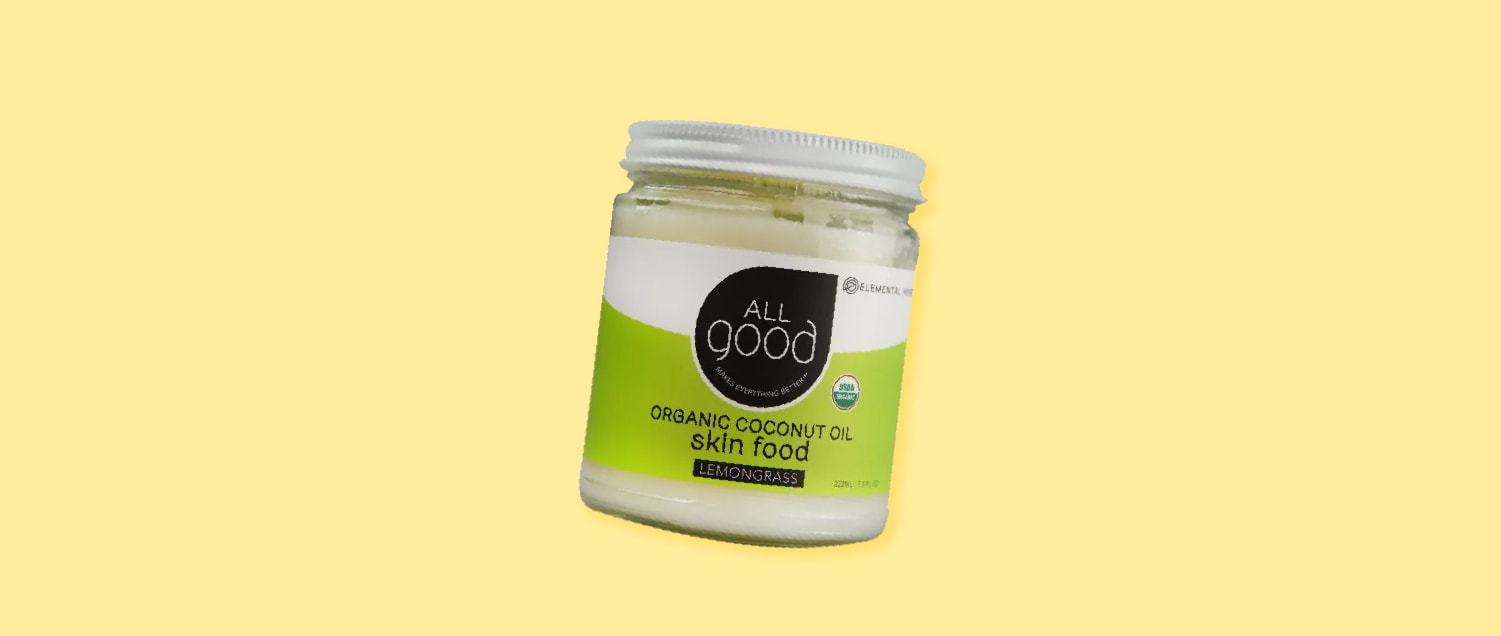 All Good Organic Coconut Oil Skin Food with Lemongrass Essential Oil