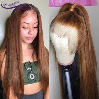 Dream Beauty Human Hair Straight Full Lace Wig 100% Real Brazilian Hair